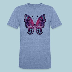 Tribal Butterfly - Unisex Tri-Blend T-Shirt by American Apparel
