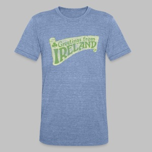 Old Greetings From Ireland - Unisex Tri-Blend T-Shirt by American Apparel