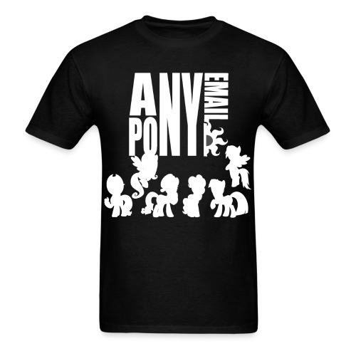 Anypony Email - Design 1 (White) - Men's T-Shirt
