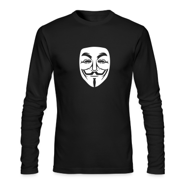 Anonymous/Guy Fawkes mask 1 clr Long Sleeve Shirts