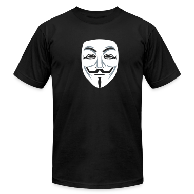 Anonymous/Guy Fawkes mask 2clr T-Shirts