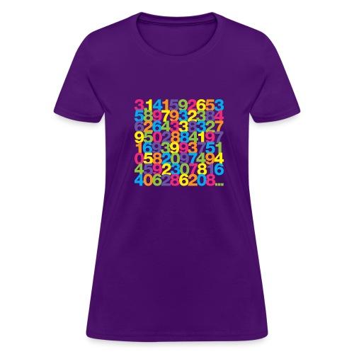 Pi shirt - Rainbow ladies' tee - Women's T-Shirt