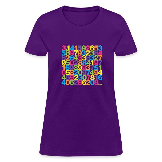 Pi shirt - Rainbow ladies' tee