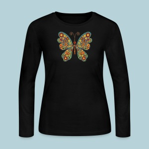 Abstract Butterfly - Women's Long Sleeve Jersey T-Shirt