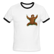 T-Shirts ~ Men's Ringer T-Shirt by American Apparel ~ Sloth Hug Ringer Tee