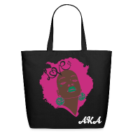 Bags & backpacks ~ Eco-Friendly Cotton Tote ~ SN&LI! Retro Fro AKA Tote (Sale)