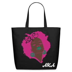 SN&LI! Retro Fro AKA Tote (Sale) - Eco-Friendly Cotton Tote