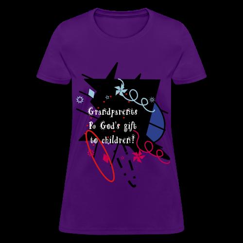 Grandparents R God's Gift To Children - Women's T-Shirt