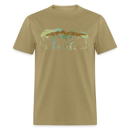 Elephants Butting Heads - Men's T-Shirt