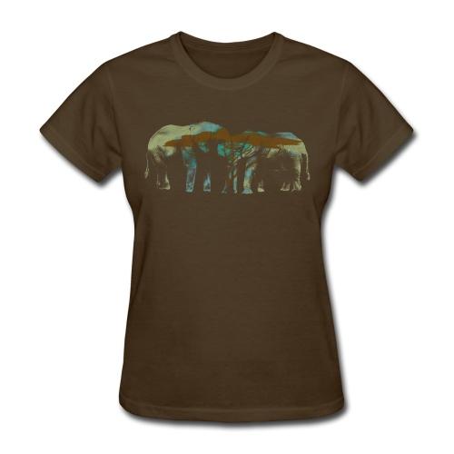 Elephants Butting Heads - Women's T-Shirt
