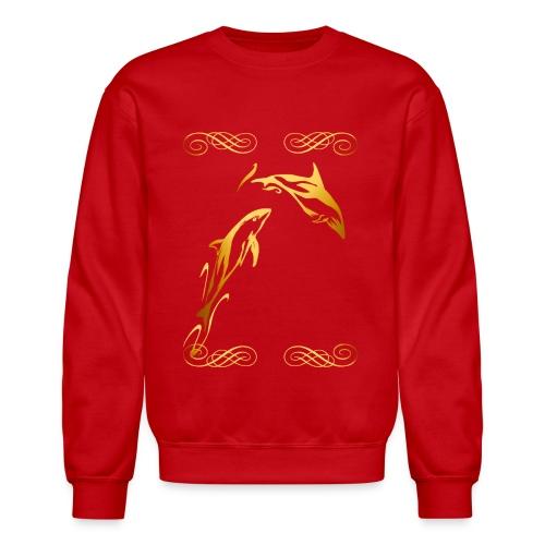 Two Gold Dophins framed - Crewneck Sweatshirt