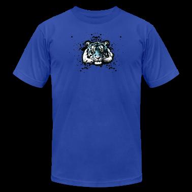 Tiger - Blue Graffiti Graphic T-Shirts
