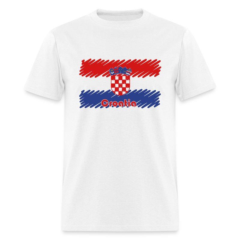 Scribble Drawing T Shirt : Croatian flag scribble t shirt spreadshirt