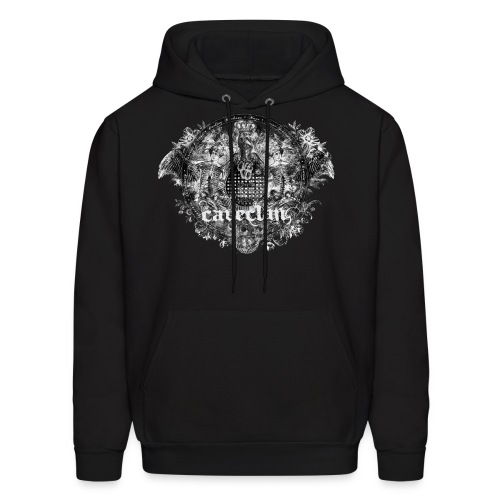 Anatomy of the Cave Clan- black pullover hoodie - Men's Hoodie