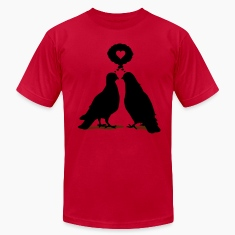 Love thinking  Doves - Two Valentine Birds 2c T-Shirts