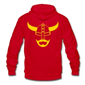 Blonde Viking Beard Hoodie - Unisex Fleece Zip Hoodie by American Apparel