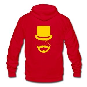 Blonde Gentlemen's Beard Hoodie - Unisex Fleece Zip Hoodie by American Apparel