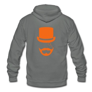Red Gentlemen's Beard Hoodie - Unisex Fleece Zip Hoodie by American Apparel