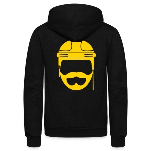 Blonde Hockey Beard Hoodie - Unisex Fleece Zip Hoodie by American Apparel