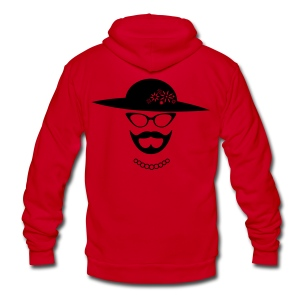 Black Bearded Lady Hoodie - Unisex Fleece Zip Hoodie by American Apparel