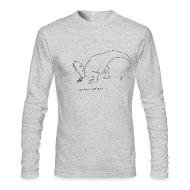 Long Sleeve Shirts ~ Men's Long Sleeve T-Shirt by Next Level ~ T-Rex Picking Flowers (Long Sleeve)