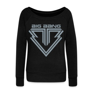 [BB] BB (Metallic Silver) - Women's Wideneck Sweatshirt