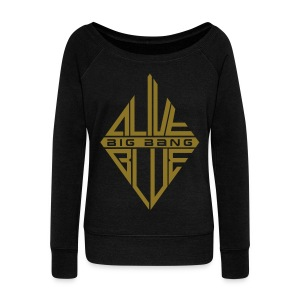 [BB] ALIVE | BLUE (Metallic Gold) - Women's Wideneck Sweatshirt