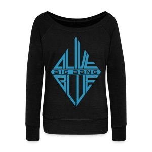 [BB] ALIVE | BLUE - Women's Wideneck Sweatshirt
