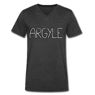T-Shirts ~ Men's V-Neck T-Shirt by Canvas ~ ARGYLE shirt