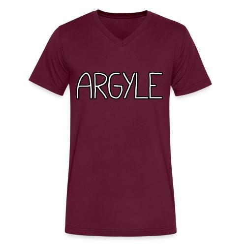ARGYLE shirt - Men's V-Neck T-Shirt by Canvas
