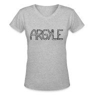 T-Shirts ~ Women's V-Neck T-Shirt ~ ARGYLE shirt