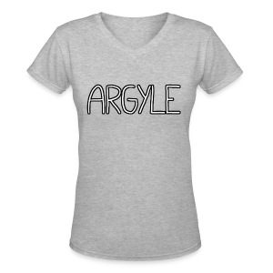 ARGYLE shirt - Women's V-Neck T-Shirt