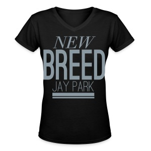 [JP] New Breed (Metallic Silver) - Women's V-Neck T-Shirt
