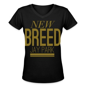 [JP] New Breed (Metallic Gold) - Women's V-Neck T-Shirt