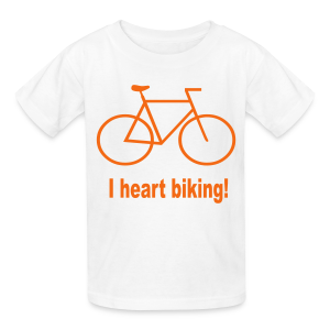 I heart biking - Kids' T-Shirt