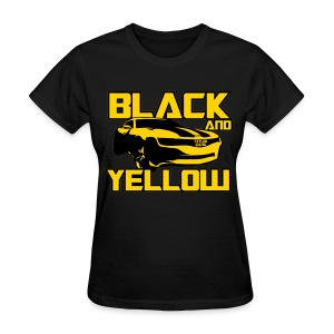 Black And Yellow Bumblebee - Women's T-Shirt