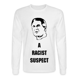Bush- a racist suspect - Men's Long Sleeve T-Shirt