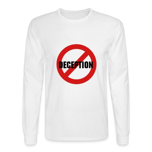 No Deception - Men's Long Sleeve T-Shirt