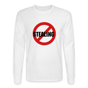 No Stealing - Men's Long Sleeve T-Shirt