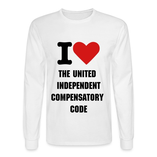 I heart UICCSC  white - Men's Long Sleeve T-Shirt
