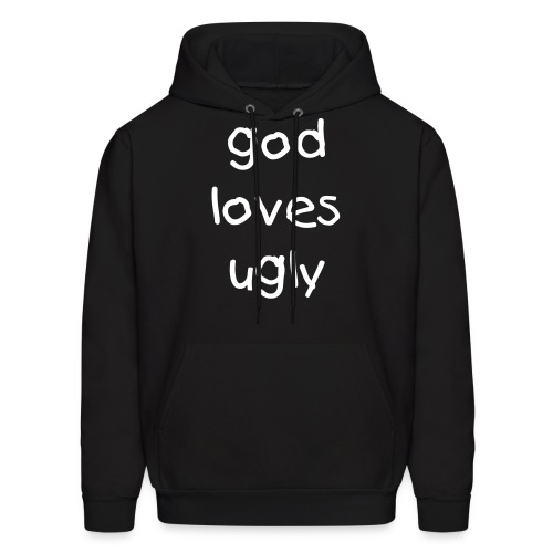 Black God Loves Ugly Men's Hoodie - Men's Hoodie