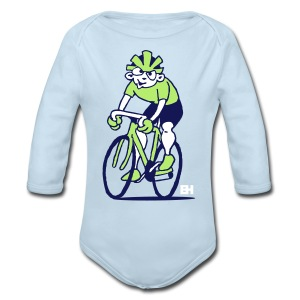 Cyclist - Cycling Baby Bodysuits - Long Sleeve Baby Bodysuit