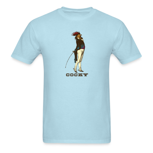 Cocky the Vintage Rooster Chicken - color