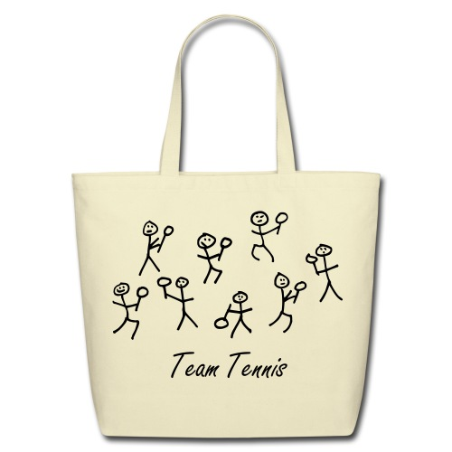 Team Tennis Tote Bag - Eco-Friendly Cotton Tote