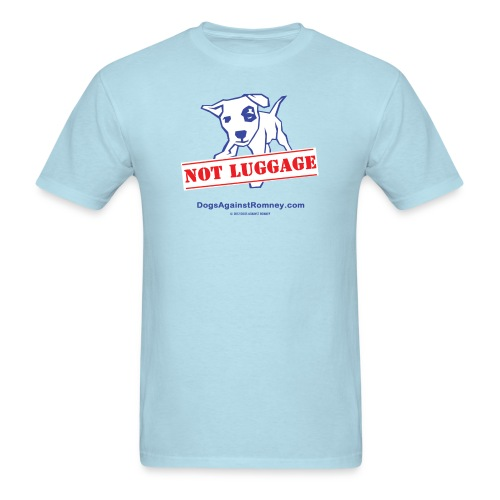 Official Dogs Against Romney NOT LUGGAGE Men's Tee - Men's T-Shirt