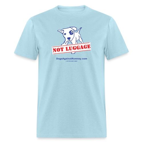 Official Dogs Against Romney NOT LUGGAGE Men's Tee - Men's T-Shirt