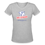 T-Shirts ~ Women's V-Neck T-Shirt ~ Official Dogs Against Romney NOT LUGGAGE Women's V-neck Tee