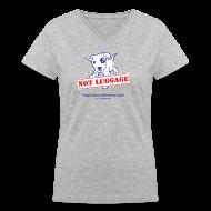 Women's T-Shirts ~ Women's V-Neck T-Shirt ~ Official Dogs Against Romney NOT LUGGAGE Women's V-neck Tee