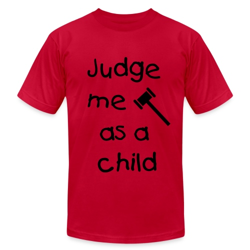 Judge me as a child - Men's Fine Jersey T-Shirt