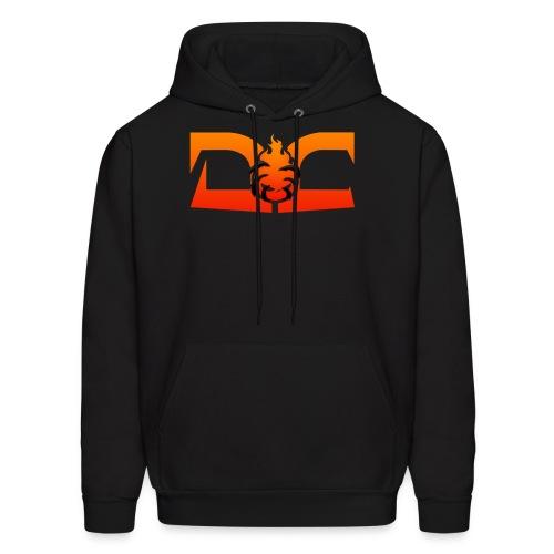 MEN'S HOODIE: DotaCinema red logo black - Men's Hoodie